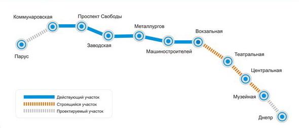 Карта метро Днепра